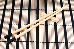 Sticks to land on the mat Royalty Free Stock Photography