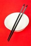 Pair of chopsticks and white b Stock Photos