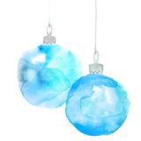 Pair of Christmas decorations watercolor illustration. royalty free illustration