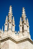 A pair of church spires. A pair of beautiful church spires found in Granada, Spain Royalty Free Stock Photography