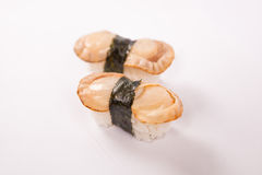 Pair of Clam Sushi Royalty Free Stock Photo