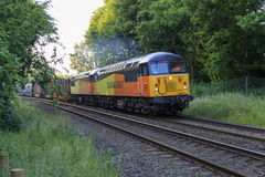 A pair of Class 56 locomotives Royalty Free Stock Photo