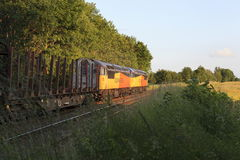 A pair of Class 56 locomotives Royalty Free Stock Image