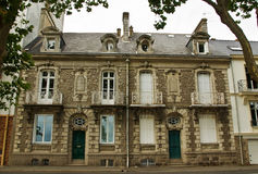 A pair of classic French town houses. A fine pair of classic French town houses royalty free stock images