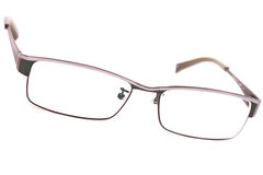 Pair of classic metal-framed glasses Stock Photography
