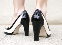Pair of classsic high heels Stock Photos
