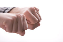 Pair of closed fists hiding something Royalty Free Stock Photography