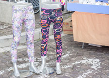 Pair of colored leggings for sale Royalty Free Stock Image