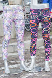 Pair of colored leggings for sale Royalty Free Stock Photos