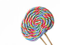 A pair of colorful lolly pops Stock Photo