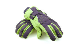 Pair of colorful ski gloves Stock Image