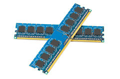 Pair of computer DDR memory modules Stock Images