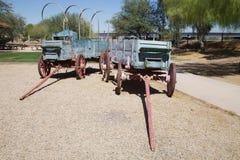 Pair of Conestoga wagons Royalty Free Stock Photo