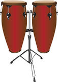 Pair of Conga Drums Stock Photo