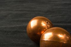 pair of copper Chinese balls Baoding Stock Photos