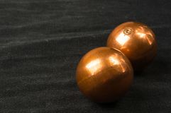 pair of copper Chinese balls Baoding Stock Image