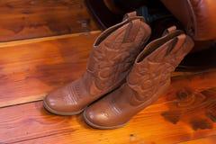 Cowboy Boots. A pair of cowboy boots stock photos