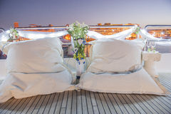 Pair of cushions on a boat Stock Photography