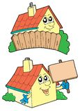 Pair of cute houses Royalty Free Stock Images