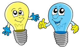 Pair of cute lightbulbs Royalty Free Stock Photo