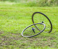 Pair of Cycling Wheels Royalty Free Stock Image