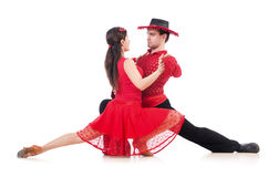 Pair of dancers Stock Images