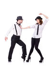 Pair of dancers dancing Royalty Free Stock Photo