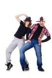 Pair of dancers dancing Royalty Free Stock Images