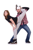 Pair of dancers dancing Stock Photography