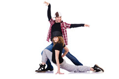 Pair of dancers dancing Stock Photos