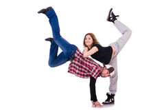 Pair of dancers dancing Stock Images