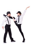 Pair of dancers dancing Royalty Free Stock Photos