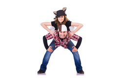 Pair of dancers dancing Stock Image