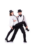 Pair of dancers dancing Royalty Free Stock Image