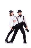 Pair of dancers dancing Royalty Free Stock Image