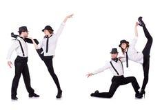 The pair of dancers dancing modern dances Royalty Free Stock Images