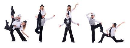 The pair of dancers dancing modern dances Stock Photo