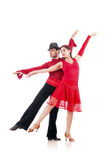 Pair of dancers isolated Royalty Free Stock Photos