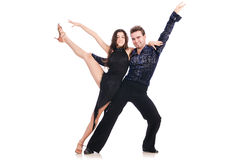 Pair of dancers isolated Royalty Free Stock Photography