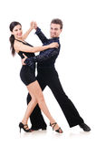 Pair of dancers isolated Stock Photography