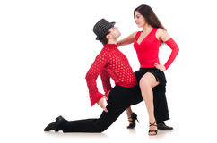 Pair of dancers Royalty Free Stock Photo