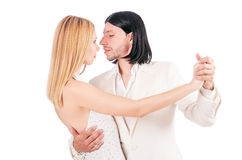 Pair dancing dances isolated Royalty Free Stock Photography