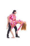 Pair dancing Royalty Free Stock Photos