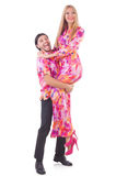 Pair dancing Stock Photo