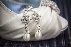 A Pair of Diamond Earrings Stock Image
