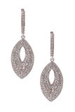 Pair of diamond earrings isolated on white Stock Photography