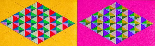 Pair of diamond shapes Royalty Free Stock Photography