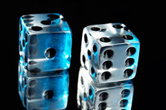 Pair of Dice. Isolated on black background Stock Image