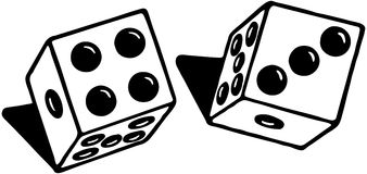 Pair Of Dice Royalty Free Stock Images
