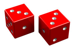Pair of dice - Hard Six Royalty Free Stock Images